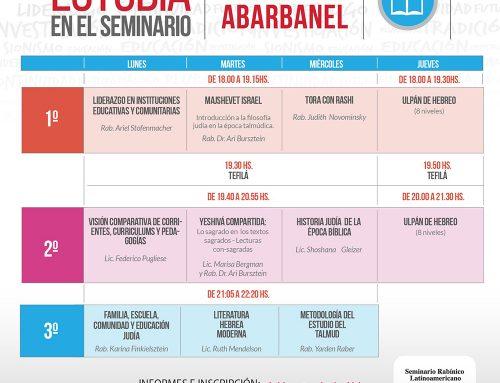 El Instituto Abarbanel te espera. Estudiá en el Seminario