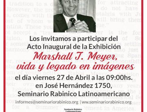 Inauguración Muestra Marshall T. Meyer