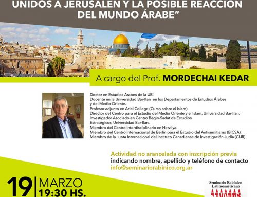 Conferencia: Trasalado de Embajada de USA a Jerusalem